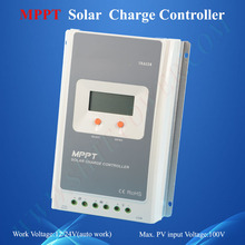Aluminium housing mppt charge 40a solar battery charger controller 12v 24v auto work