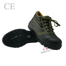 PU injection outsole steel toe safety boots
