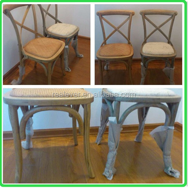solid wood antique style wooden cross back chairs
