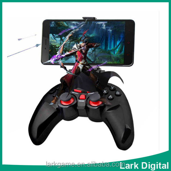 Wireless Android Bluetooth Gamepad Game Controller Joystick For Android iOS PC with Cell Phone Holder Gamepads