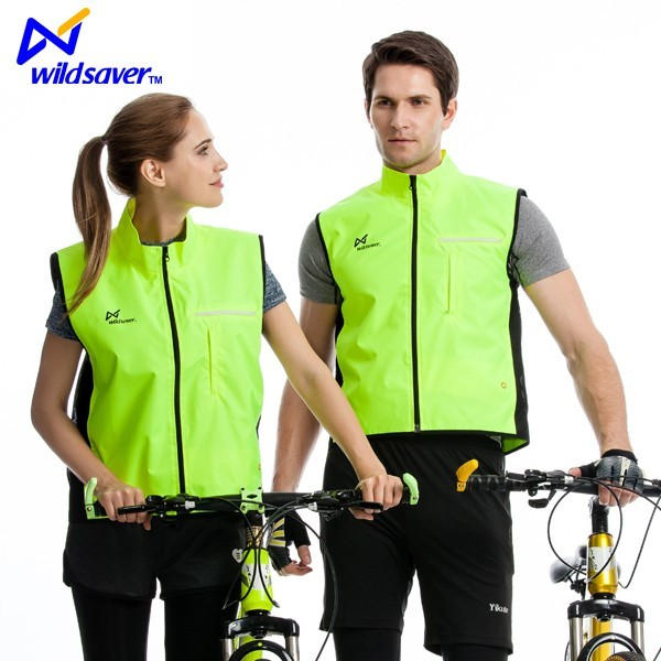 China manufacturer cheap fashion design led custom clothing mountain bike riding cycling vest