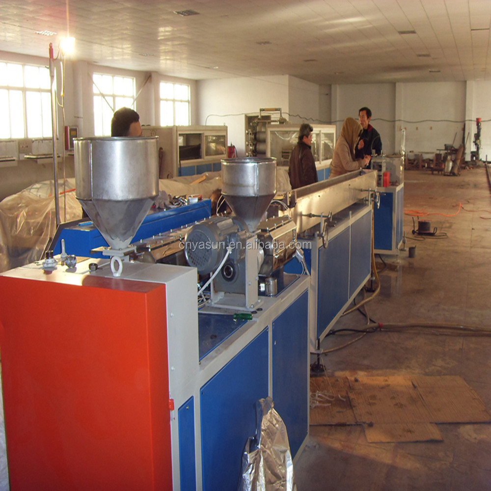 Three Color Drinking Straw Plastic Machinery/PP PE Straw Production Line
