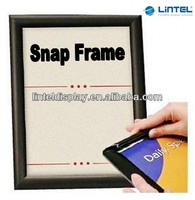 Black ultra slim snap frame