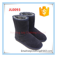 womens classic navy genuine leather winter warm snow boots