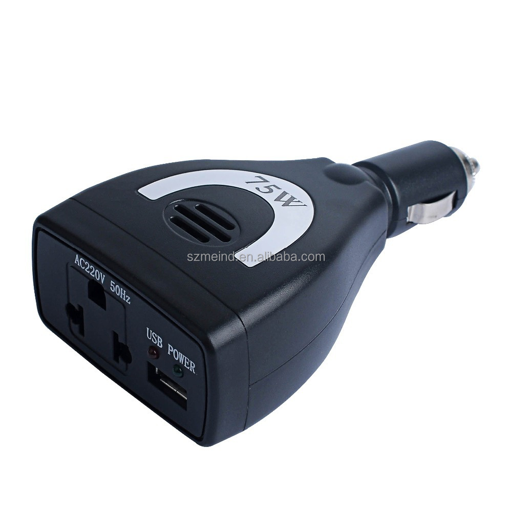 High quality and good price Meind DC12V to AC100V-240V 75W,100W,150W car or trucks power inverter