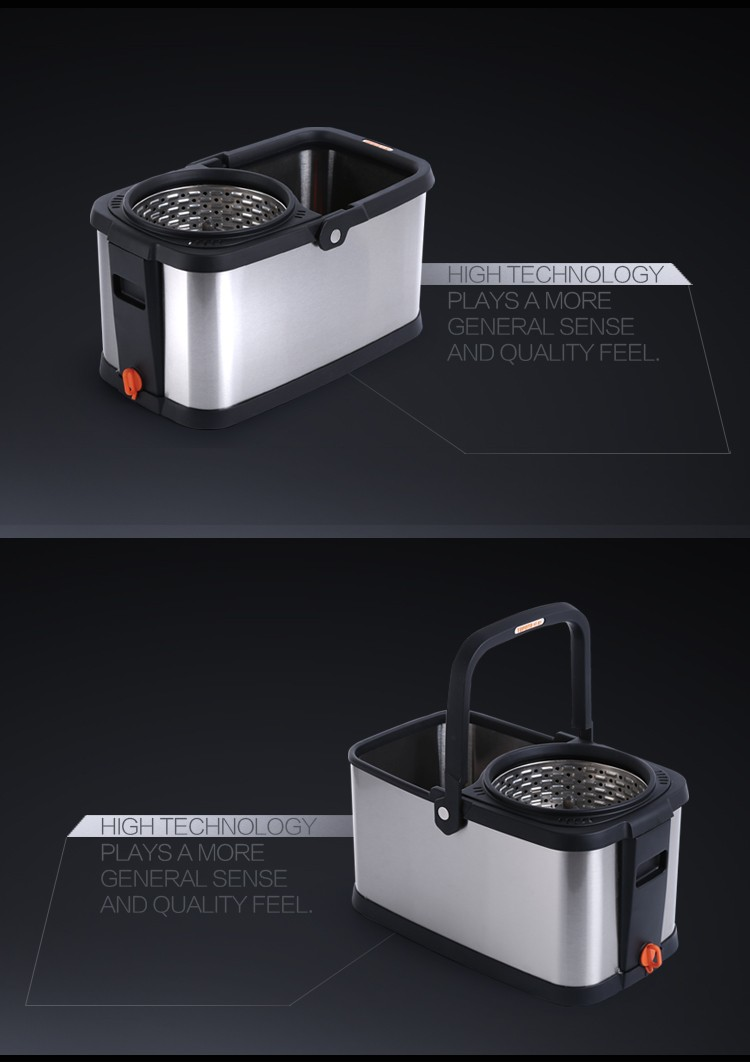 2020 TOP Quality Innovative Stainless Steel Bucket Cleaning Mops With Microfiber Cleaning Pad