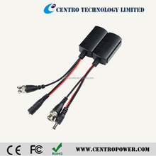 Passive HD TVI CVI AHD video transmitter and receiver transmit video and power video balun
