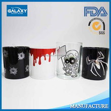 Halloween glass candle holder set for All Saints' Day