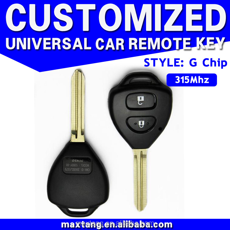 Universal Replacement Smart Car Key 315MHz Transponder Chip Key for Toyota Corolla G Chip Key MTF-100808