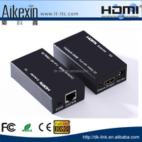 Best Price HDMI Extender by Cat5e/6 cables up to 60M 1080P Hdmi extender cable box