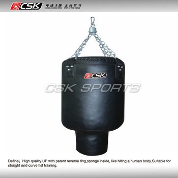 Synthetic leather pear shaped punching bag