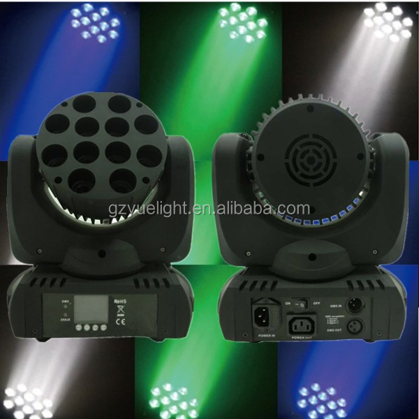 Guangzhou the EXW Price12pcs*10W RGBW Mini LED Beam Moving Head Light