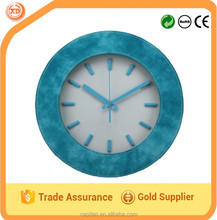 description for a leather wall clock made in china