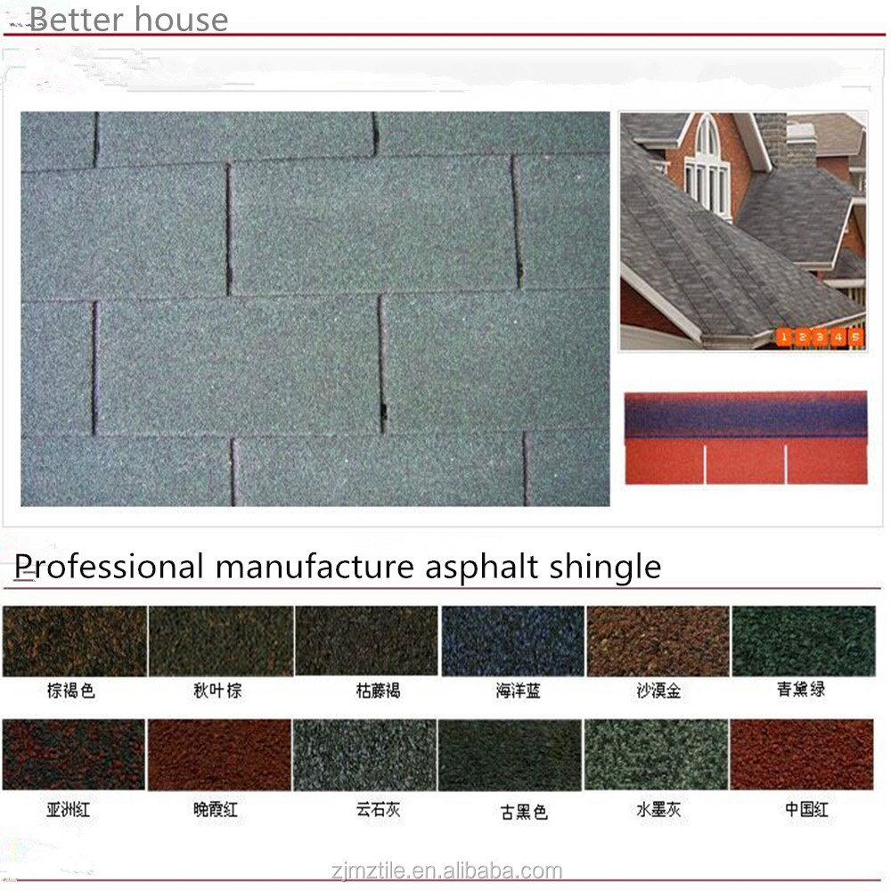 Grey asphalt roofing shingles prices/cheap roofing materials
