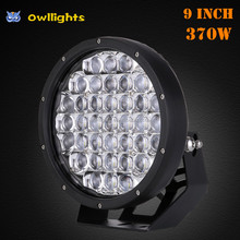 "2017 Factory Wholesale 9"" Round CE Rohs Certificate10-30V DC Voltage 370w 5D Lesn LED Driving Light for 4x4 Truck Motorcycle"