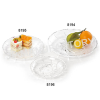 Restaurant Food Display 30cm Clear Hard Plastic Round Fruit Tray