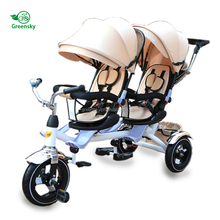 EN71 approved Christmas Gift kids double seat tricycle / 2 seat tricycle for kids toy / baby twin tricycle for children