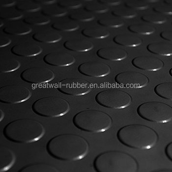 Good Quality Design Well Best Selling Anti-slip Round Button Round Dot Coin Floor Mat Rubber Sheet