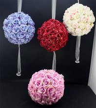 wholesale foam rose kissing balls decorative artificial flower balls