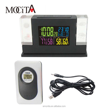 New Arrival Crystal LED Weather Station with Backlight Indoor/Outdoor Temperature Humidity Alarm Clock