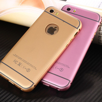 Matte Alloy Case for iPhone 5 Pure Color Backing Plate Bumper Cover