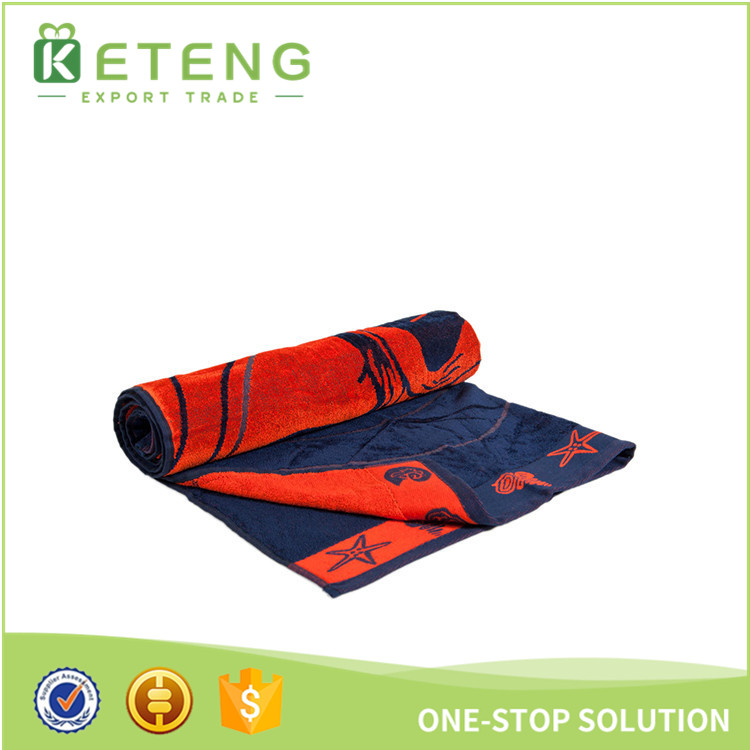 Chinese hot sale high quality towel fabric custom cotton beach towel