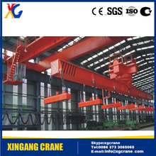 High quality low price QC electric 10ton overhead magnet crane bridge crane with magnetic chuck for steel factory/plant/workshop