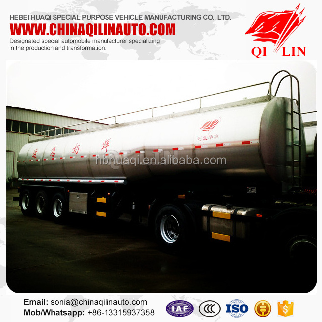 Hot sale overall dimension 11250*2500*3850mm and 10850*2490*2000mm tank body tank milk