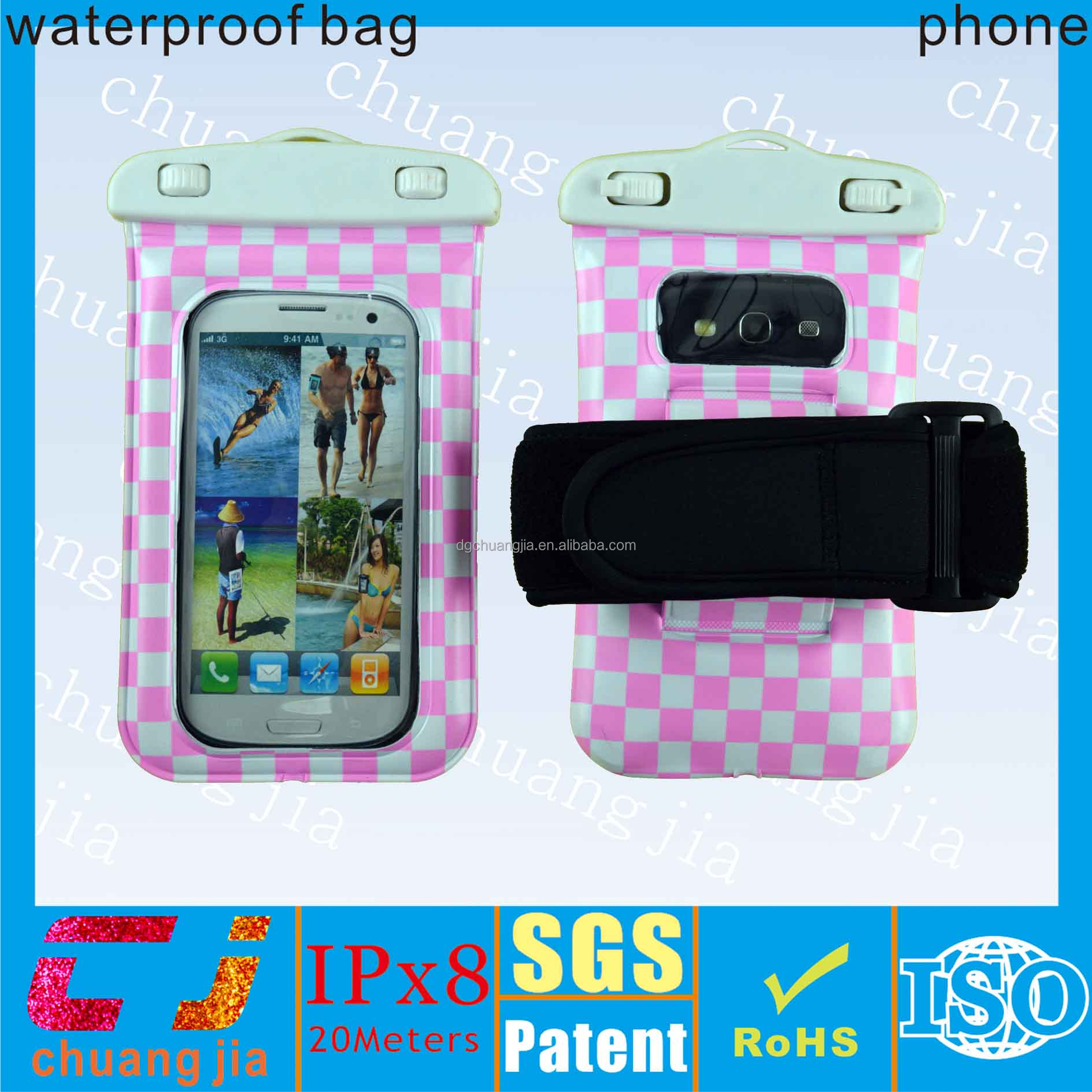 Mobile phone accessory for samsung waterproof bag cover