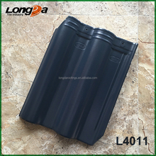 Smooth colorful froze resistance double barrel ceramic roof tiles