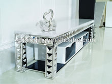 2014 modern design E338 living room furniture stainless and marble top italian design mdf TV stand