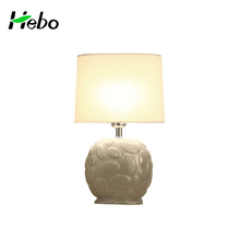 Wholesale modern ceramic light-dimmer table lamp white porcelain light fixture with oval fabric shade