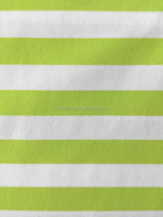China low price knitted 92%nylon8% spandex stripe interlock fabric for underwear