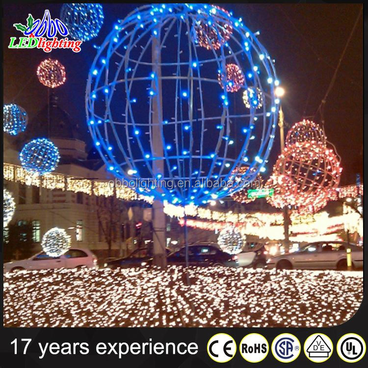 outdoor use all color led ball cover led christmas light/battery operated led decorative light