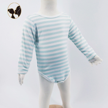 strip printed organic cotton knitted baby romper