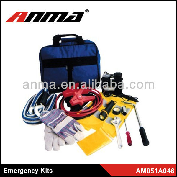 auto safety kits/ roadside car emergency kit with booster cable