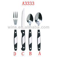korean and western-style food fork and spoon set