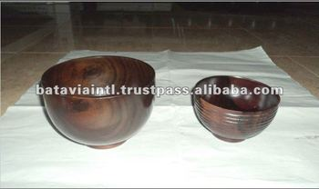 High Quality Mahogany Solid Wooden Bowl