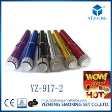 Newest 6 colors Click N Vape Mini Herbal Vaporizer smoking pipe Torch Flame Lighter built-in WindProof YZ-917
