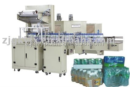 automatic shrink wrapping machine for packing bottles