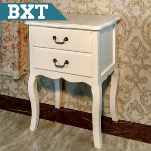 Top quality hot sale hospital style 2 drawer bedside table bedroom furniture