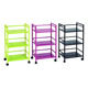 Rolling multifunction colorful metal 3-tier removable kitchen serving trolley cart
