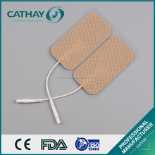 FDA certificated professional fabric backing reusable tens electrode gel pads