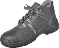 Black progressive safety footwear
