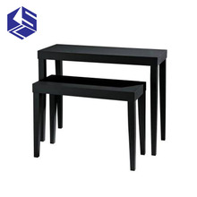 Modern techniques garment shop interior design store display table wooden clothes display stand