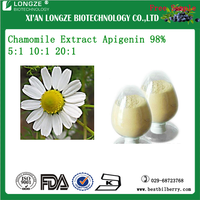 Hot Sell Chamomile Flower Extract Powder Manufacturer Matricaria recutita L Extract Apigenin 98% 5:1 10:1 20:1