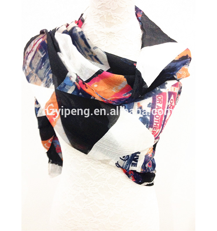 Modern Fashionable Lady 100 Modal printing scarf Chinese wholesale price magic scarf