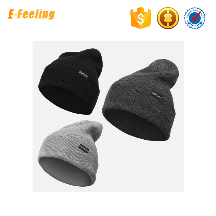man winter knitted hat cap fashion mens beanie