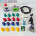 Arcade Parts DIY Bundles Kit With Joystick,Pushbutton,Microswitch,2 Player USB To Jamma Board