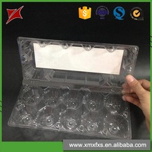 Clear 12 packs disposable tray PET/PVC plastic egg box